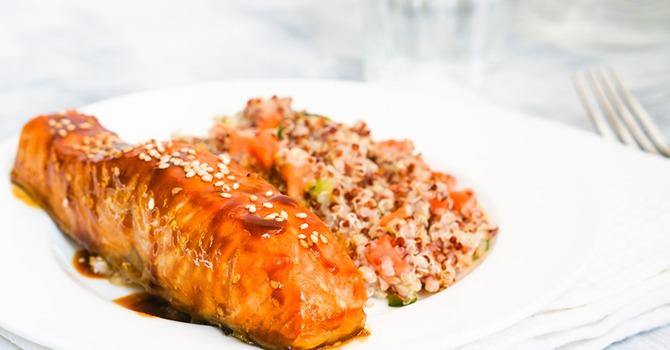 Couscous met Pittige zalm en Honing